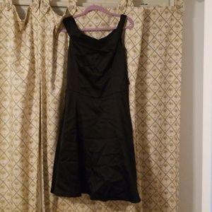 Fashion bug black satin dress size 12